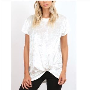 Tops - White Velvet Top